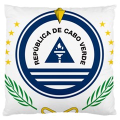 National Emblem of Cape Verde Large Flano Cushion Case (One Side)