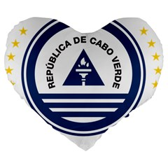 National Emblem of Cape Verde Large 19  Premium Flano Heart Shape Cushions