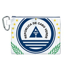 National Emblem of Cape Verde Canvas Cosmetic Bag (L)