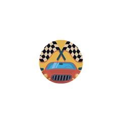 Automobile Car Checkered Drive 1  Mini Magnets