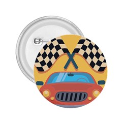 Automobile Car Checkered Drive 2.25  Buttons