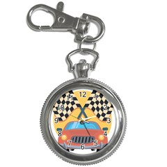 Automobile Car Checkered Drive Key Chain Watches