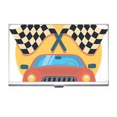 Automobile Car Checkered Drive Business Card Holders