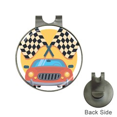 Automobile Car Checkered Drive Hat Clips with Golf Markers