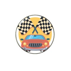 Automobile Car Checkered Drive Hat Clip Ball Marker (10 pack)