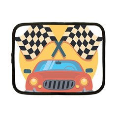 Automobile Car Checkered Drive Netbook Case (Small)