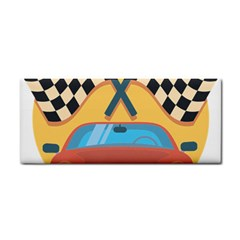 Automobile Car Checkered Drive Cosmetic Storage Cases