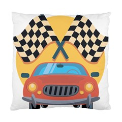Automobile Car Checkered Drive Standard Cushion Case (One Side)