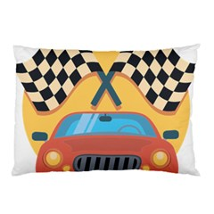Automobile Car Checkered Drive Pillow Case