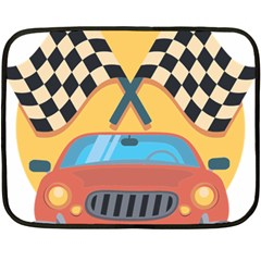 Automobile Car Checkered Drive Fleece Blanket (Mini)