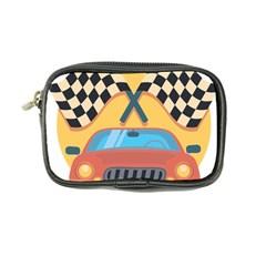 Automobile Car Checkered Drive Coin Purse