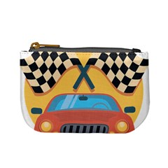 Automobile Car Checkered Drive Mini Coin Purses