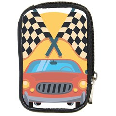 Automobile Car Checkered Drive Compact Camera Cases