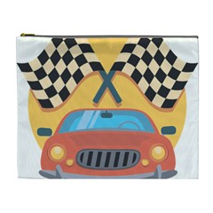 Automobile Car Checkered Drive Cosmetic Bag (XL)