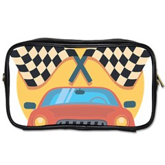 Automobile Car Checkered Drive Toiletries Bags 2-Side
