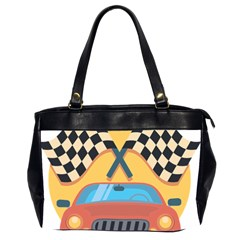 Automobile Car Checkered Drive Office Handbags (2 Sides)