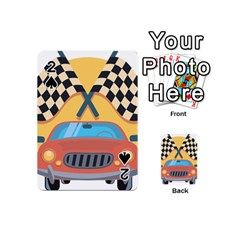 Automobile Car Checkered Drive Playing Cards 54 (Mini)