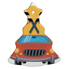 Automobile Car Checkered Drive Ornament (Christmas Tree)