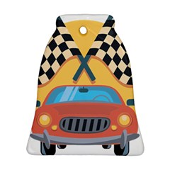 Automobile Car Checkered Drive Bell Ornament (2 Sides)