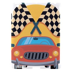 Automobile Car Checkered Drive Apple iPad 3/4 Hardshell Case (Compatible with Smart Cover)