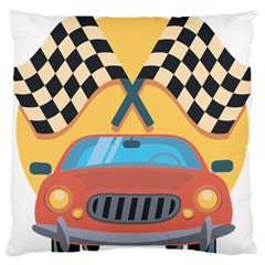 Automobile Car Checkered Drive Large Cushion Case (One Side)