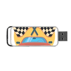 Automobile Car Checkered Drive Portable USB Flash (One Side)