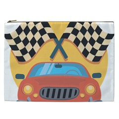Automobile Car Checkered Drive Cosmetic Bag (XXL)