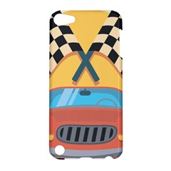 Automobile Car Checkered Drive Apple iPod Touch 5 Hardshell Case
