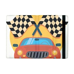 Automobile Car Checkered Drive Apple iPad Mini Flip Case