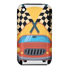 Automobile Car Checkered Drive iPhone 3S/3GS