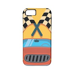 Automobile Car Checkered Drive Apple iPhone 5 Classic Hardshell Case (PC+Silicone)