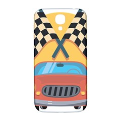 Automobile Car Checkered Drive Samsung Galaxy S4 I9500/I9505  Hardshell Back Case