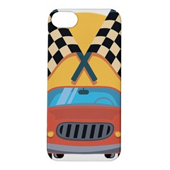 Automobile Car Checkered Drive Apple iPhone 5S/ SE Hardshell Case