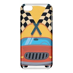 Automobile Car Checkered Drive Apple iPhone 5C Hardshell Case