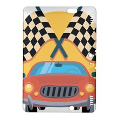 Automobile Car Checkered Drive Kindle Fire HDX 8.9  Hardshell Case