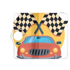 Automobile Car Checkered Drive Kindle Fire HDX 8.9  Flip 360 Case