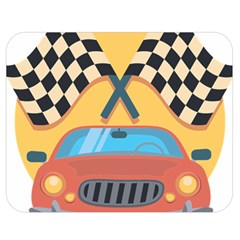 Automobile Car Checkered Drive Double Sided Flano Blanket (Medium)