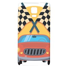 Automobile Car Checkered Drive Galaxy Note 4 Back Case