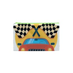 Automobile Car Checkered Drive Cosmetic Bag (XS)