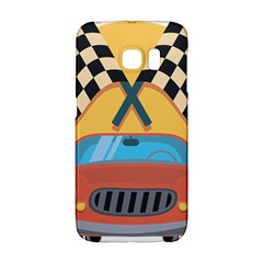 Automobile Car Checkered Drive Galaxy S6 Edge