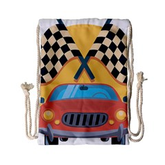 Automobile Car Checkered Drive Drawstring Bag (Small)
