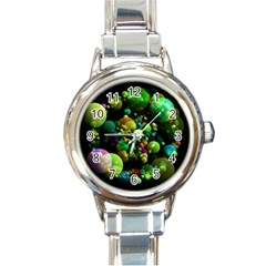 Abstract Balls Color About Round Italian Charm Watch