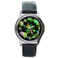Abstract Balls Color About Round Metal Watch