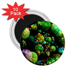 Abstract Balls Color About 2.25  Magnets (10 pack)