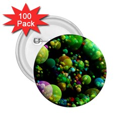 Abstract Balls Color About 2.25  Buttons (100 pack)