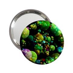 Abstract Balls Color About 2.25  Handbag Mirrors