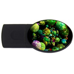 Abstract Balls Color About USB Flash Drive Oval (1 GB)