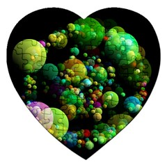 Abstract Balls Color About Jigsaw Puzzle (Heart)