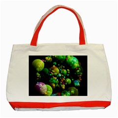 Abstract Balls Color About Classic Tote Bag (Red)