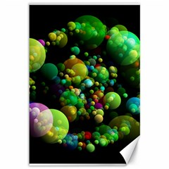 Abstract Balls Color About Canvas 12  x 18